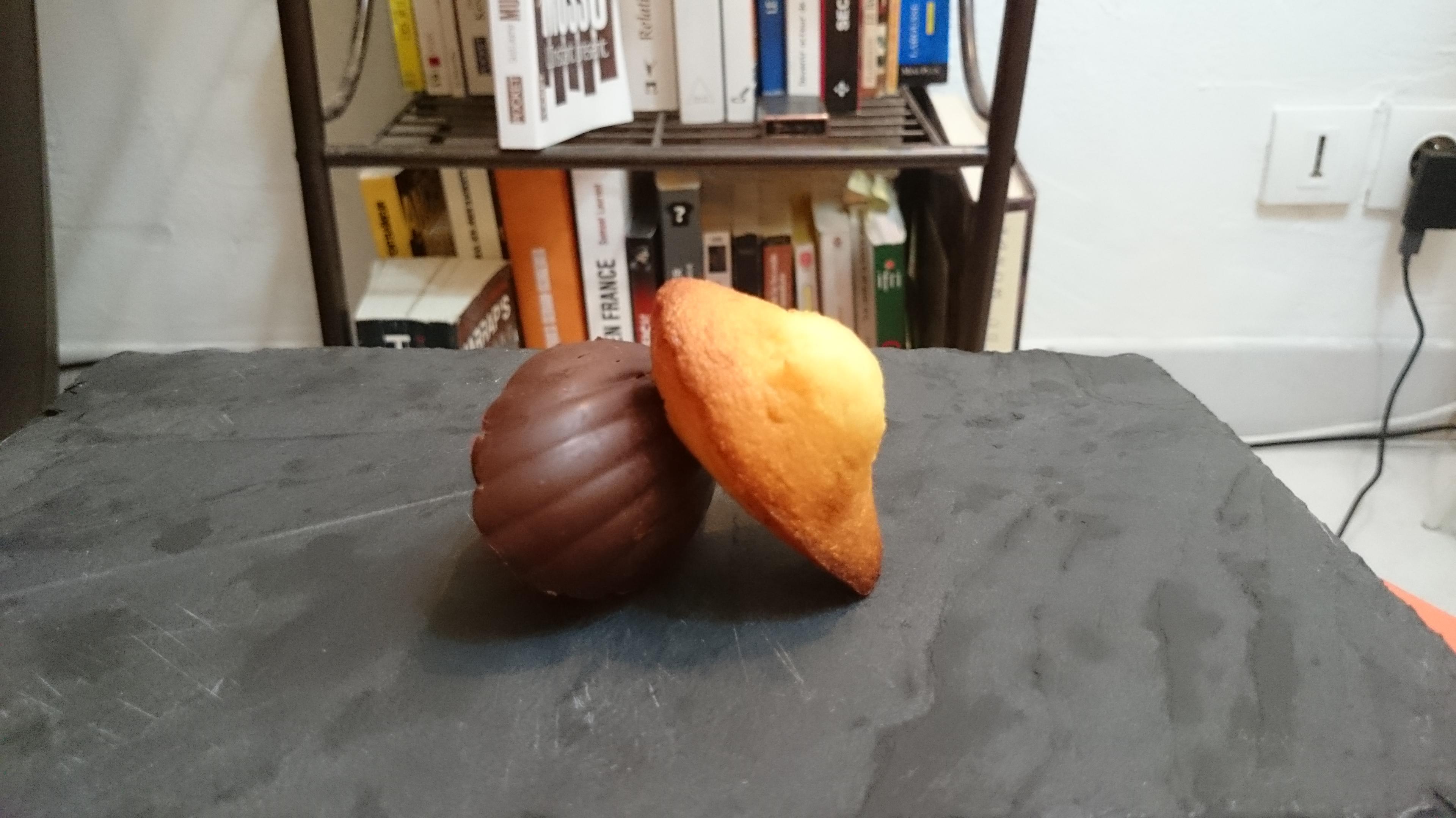 madeleines à coque choco